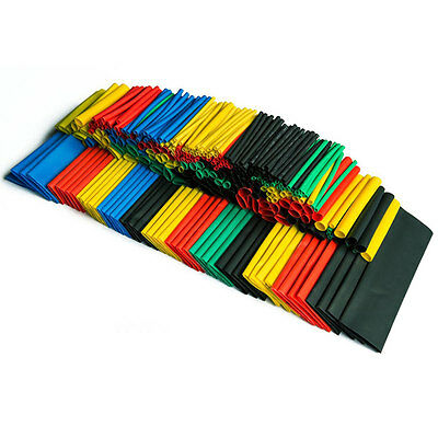 328PCS Colorful Assorted Heat Shrink Tube 8 Sizes Tubing Wrap Sleeve Set Combo