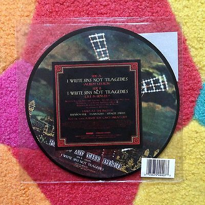 "UNPLAYED! 2005 Panic At The Disco - I Write Sins Not Tragedies PIC DISC 7"" Vinyl"