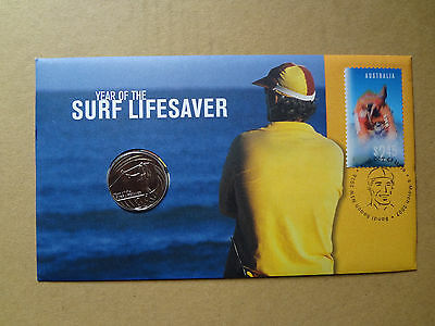 2007 Year Of The Surf Lifesaver FDC/PNC With Limited Edition 20c Coin