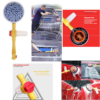 Extendable Pole Revolving High-pressure Car Care Sponge Washing Cleaning Brush