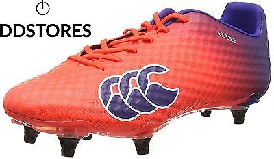 Canterbury Speed Elite 6 Stud Chaussures de Rugby Homme Rouge X20...