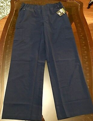 Dickies Xtreme Stretch Men's Fit Cargo Pant Size Large Navy Blue