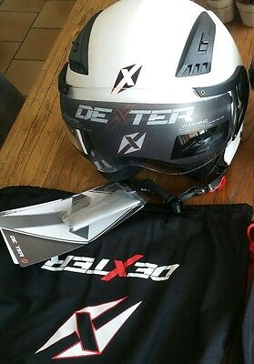 S-XS NEUF casque scooter blanc