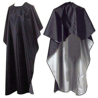 Waterproof Black Nylon Salon Hair Cutting Barber Cape Hairdressing Cloth Cape