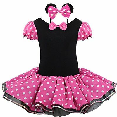 Pink Minnie Mouse Baby Kids Girls Tutu Princess Dressup Party Costume Ballet