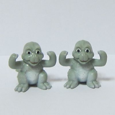 "2x 1"" Vintage Toys Mini Figure Godzilla Movie Monster Minilla Very Rare"