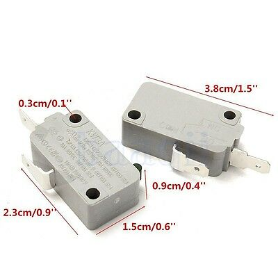 2Pcs Microwave Oven KW3A Door Micro Switch Normally Open for DR52 125V/250V DA