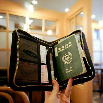 Travel Protector Cover For Passport Holder Ticket Case Bag Document Organizer 1x