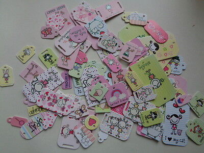 Mega Bundle of Tags, Craft, Scrapbook, Cards, Gifts, Die cut, Cats,Cute Friends