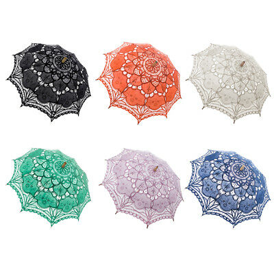 TopTie Fashion Lace Umbrella Wedding Parasol Costume Accessory Bridal Photograph
