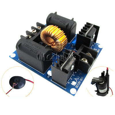 ZVS Tesla Coil Marx Generator High Voltage Power Supply Module+Case DC 12V-30V M