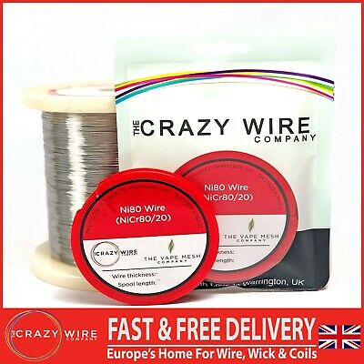 Ni80 (Nichrome - NiCr 80/20) Wire by The Crazy Wire Company