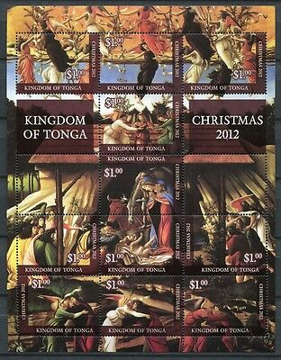 Tonga 2012 Weihnachten Christmas Gemälde Paintings Religion Postfrisch MNH