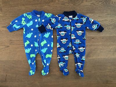 BABY BERRY Boys Winter All-in-one Jumpsuit Twins Soft NWOT Sz 0-3 months (x2)