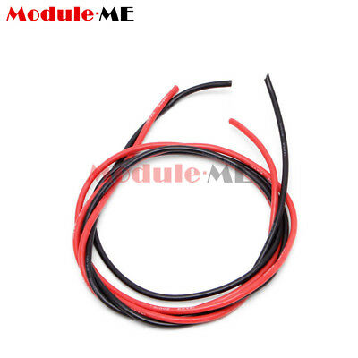 14 AWG Silicone Wire Flexible Tinned Copper Cable F RC ESC Motor DIY Black Red M