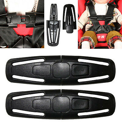 2X Baby Kids Car Safety Seat Strap Child Toddler Chest Harness Clip Safe Buckle