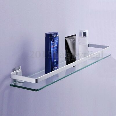 Glass Bathroom Bath Shower Shelf Caddy Rack Organizer Aluminium Rectangle Tier