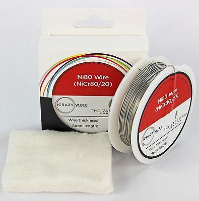0.8mm (20 AWG) Fat Ni80 (Nickel Chrome 80/20) Wire - 10 + Metre Spool