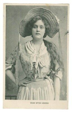 Stage Actress And Singer Evie Greene Vintage Postcard