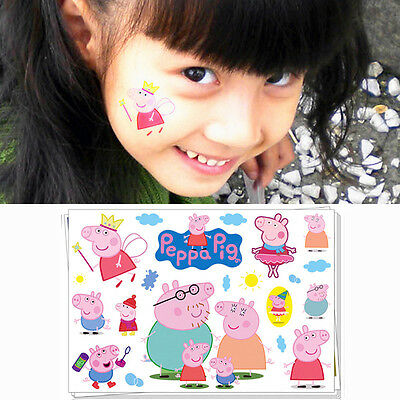 Peppa Pig Family Cartoon Flash Tattoo Sticker Temporary Body Art Toys Stickers