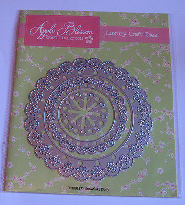 Large Snowflake Doily Die Set - Apple Blossom - DIOB0157 - New