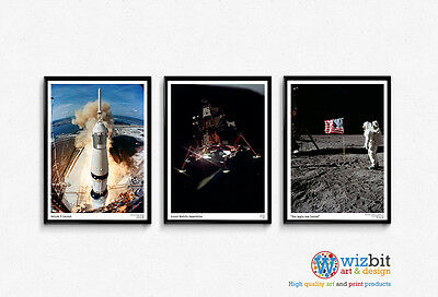 NASA Apollo 11 Mission - Set of 3 remarkable posters / prints