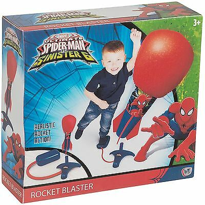 Marvel Ultimate Spider-Man Rocket Air Blaster Launch Pad Superhero Toy Fun Game