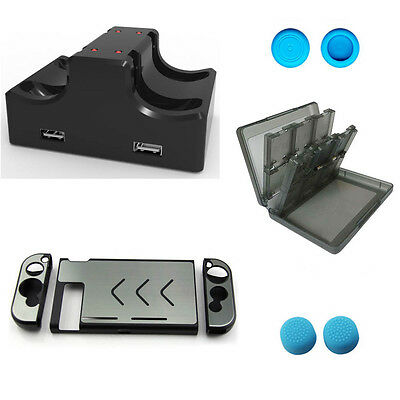 Aluminum Case Charging Dock Game Card Case Silicone button for Nintendo Switch