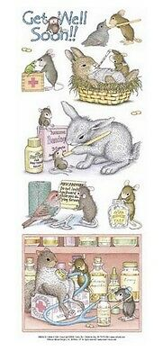 "House Mouse & Friends ""get Well Soon"" Stickers For Cards & Craft"