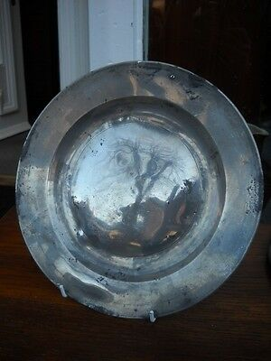 Antique 18th Century Pewter Plate   (4)