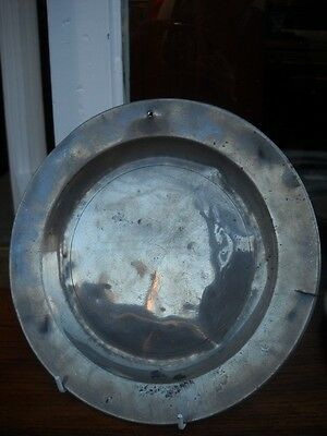 Antique 18th Century Pewter Plate   (3)