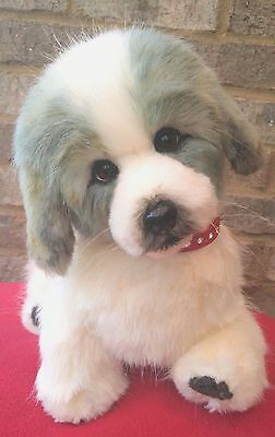 """15""""~OOAK~collectable~poseable~Great Pyrenees~puppy~dog~toy~bear"""
