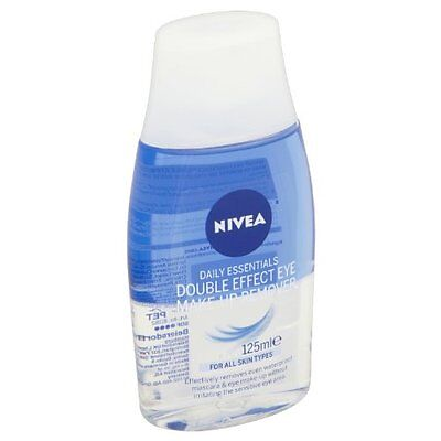 Nivea Daily Essentials Double Effect Eye Make-Up Remover - 125Ml *