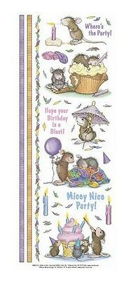 """House Mouse & Friends """"mouse Party Time"""" Stickers For Cards & Craft"""