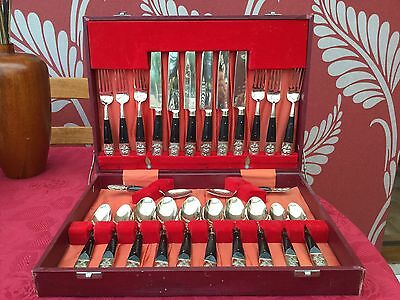 Vintage Siam Thai Boxed Set of Cutlery Very Collectable