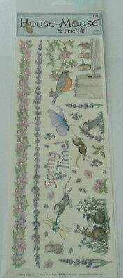 """House Mouse & Friends """"spring Time"""" Stickers For Cards & Craft"""