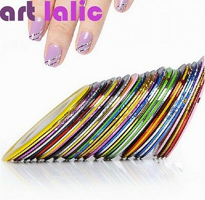 10pcs Striping Tape Line Nail Art Sticker Decoration DIY Decals UV Gel Acrylic N