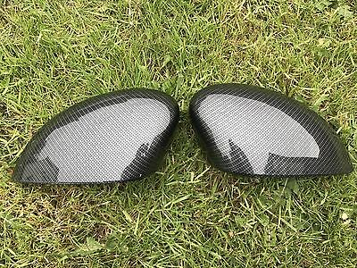 Fiesta Mk7 08-16 Pair Of Wing Mirror Covers Cap Carbon Style Hydro Dip