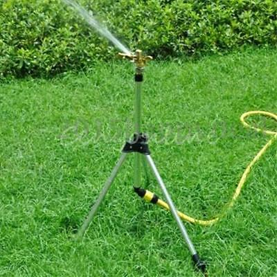 Large Adjustable Tripod Garden Lawn Water Sprinkler Outdoor Hose Pipe Connector