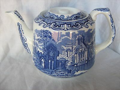 Vintage George Jones & Son Abbey blue and white tea pot