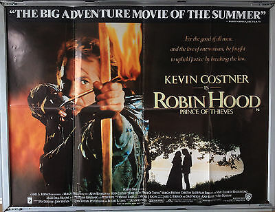 Cinema Poster: ROBIN HOOD PRINCE OF THIEVES 1991 (Quad) Kevin Costner