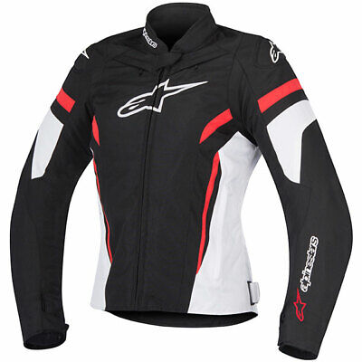 Alpinestars Stella T-GP Plus R V2 Motorcycle Textile Jacket - Black/White/Red