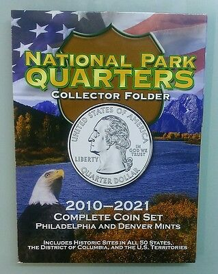 COLLECTION NATIONAL PARK QUARTERS 2010-2016 INCLUDES P and (D) 64 COINS IN ALBUM