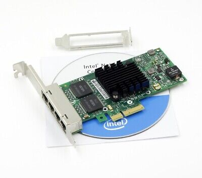 INTEL i350T4V2BLK Gigabit Ethernet Network Server Adapter I350-T4 V2 Quad Ports
