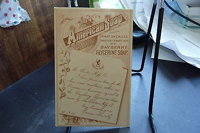 American Soap Trade Card Bayberry Glycerine Soap