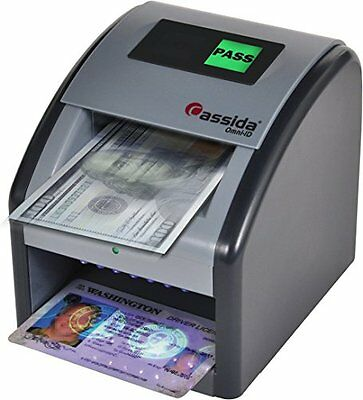 Auto Money Cash and ID Counterfeit Detector Paper Bills Checker IR MG UV Scanner