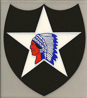2nd Infantry Division Decal - Outside Application