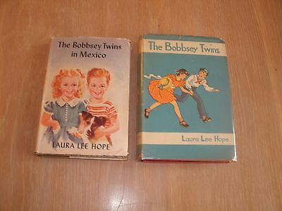 Lot of Two Vintage Bobbsey Twins Books, Both Hardcover w/ Jacket