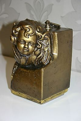 Small Gold Composite Funeral Cremation Urn for Ashes Handcrafted