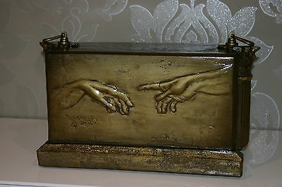 Gold Composite Funeral Cremation Urn for Ashes Handcrafted